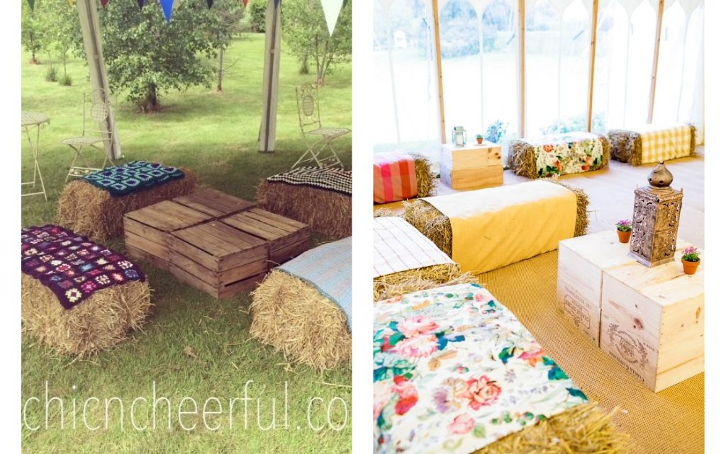 Hay Bale Furniture for Outdoors, So Creative