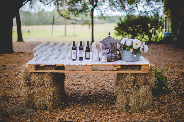 hay bale table