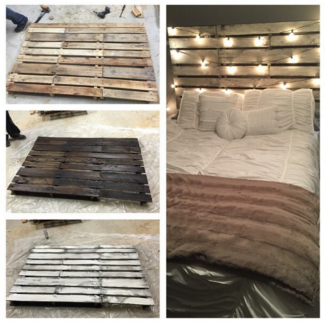 DIY Pallet Headboard For Kid's Room