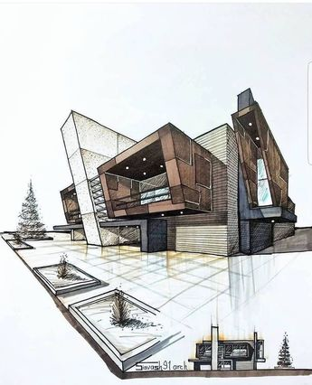 Architecture Drawing Sketch