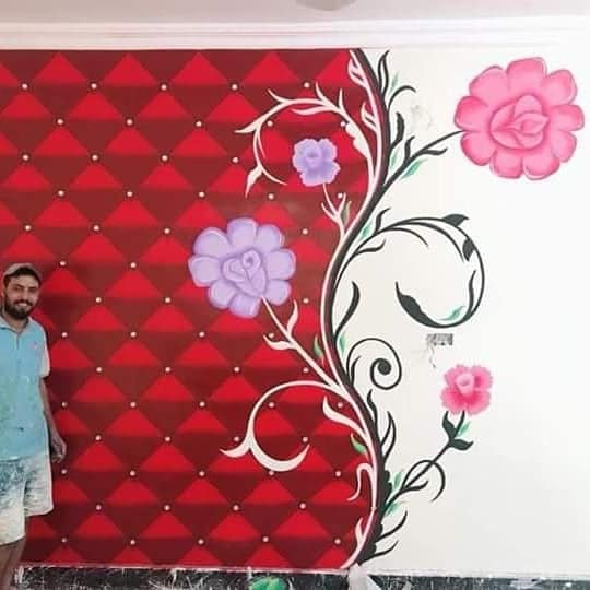 wall drawing  by artists