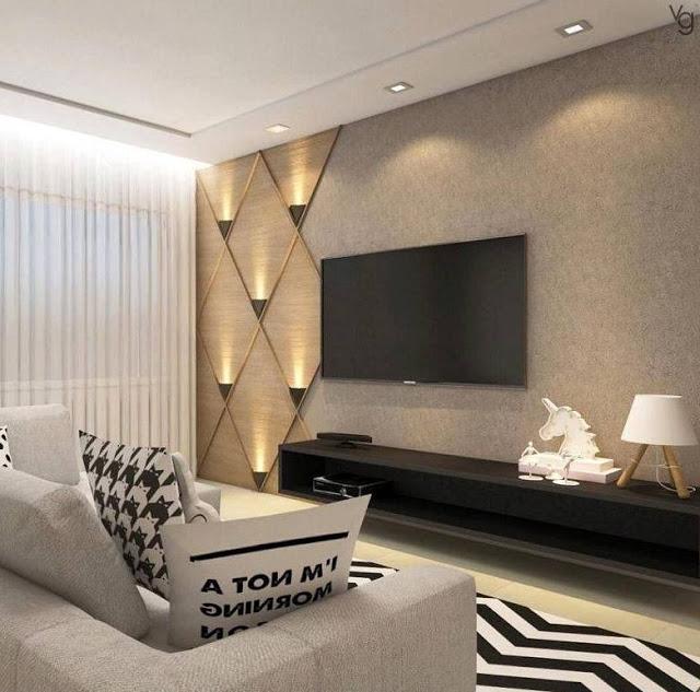 modern living room walls