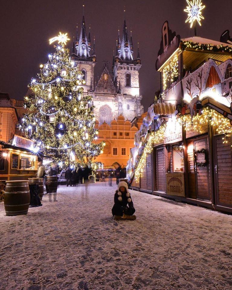 Christmas tree in Prague
