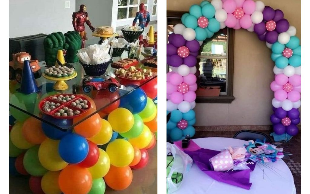 Creative Birthday Decorations with Balloons