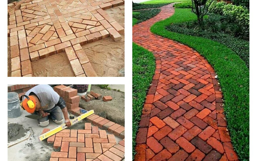DIY Spectacular Garden Bricks Pathway