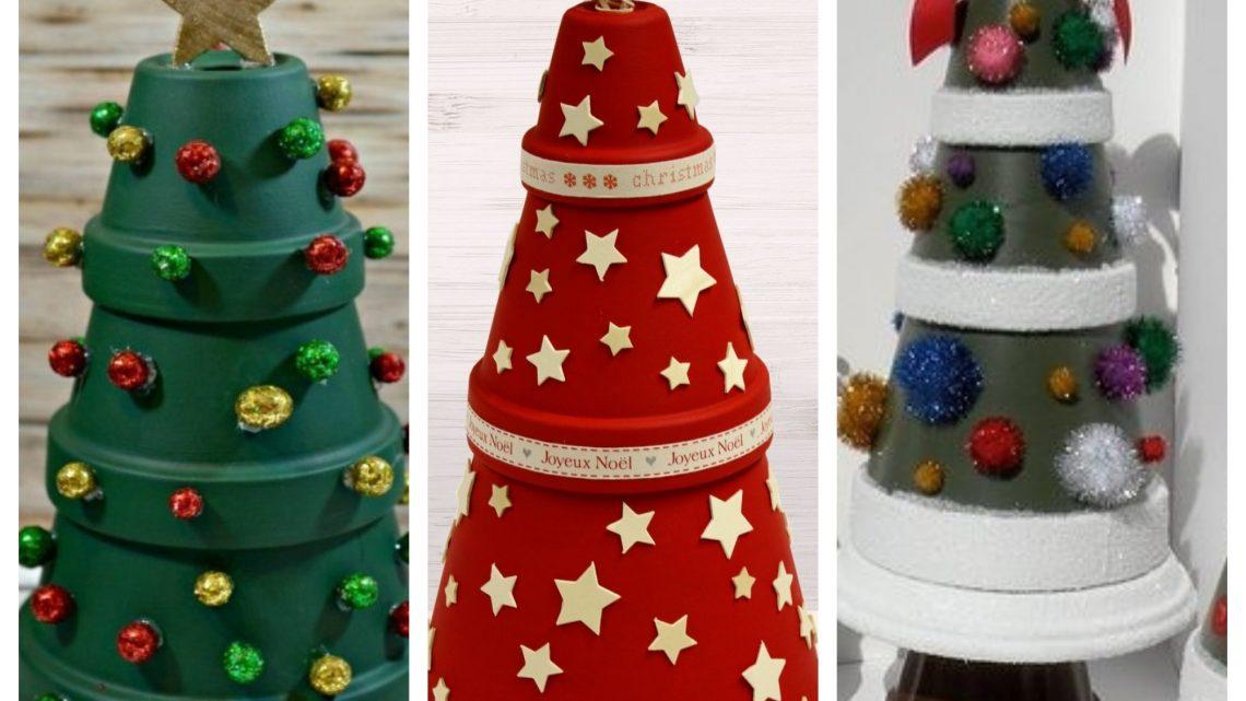 DIY Cool Flower Pots Christmas Tree