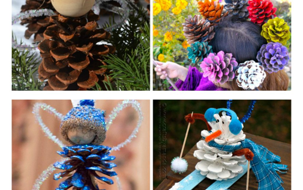 Pinecone Crafts for Today!