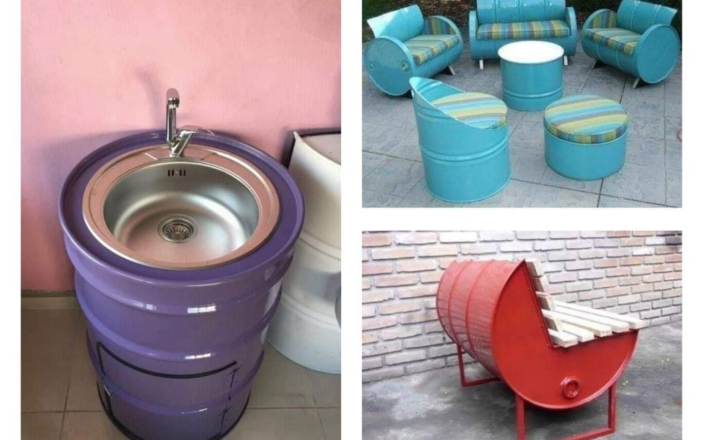 Recycling Barrels in Unique Way