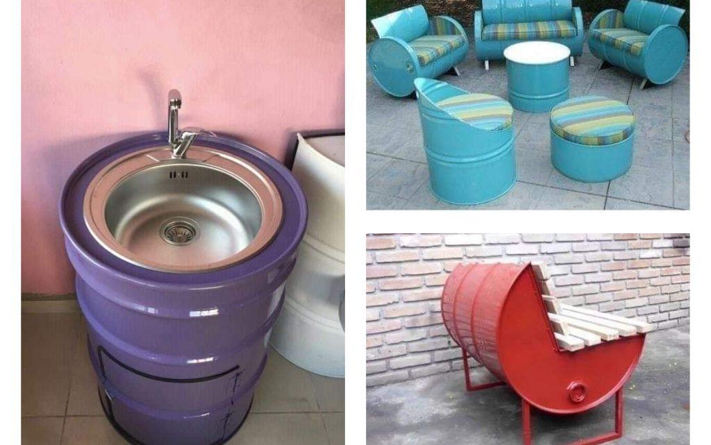 Recycling Barrels in Unique Way