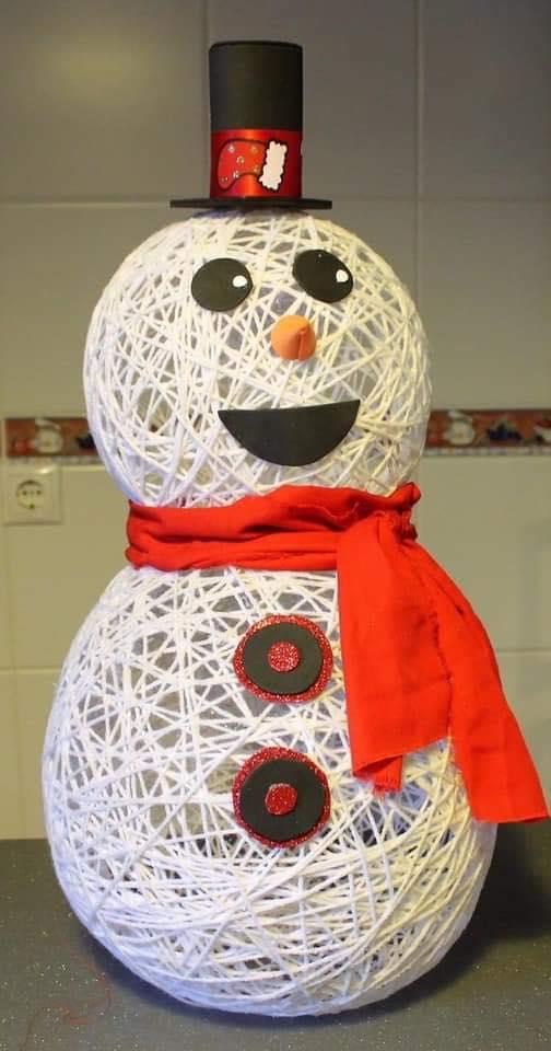 balloons snowman