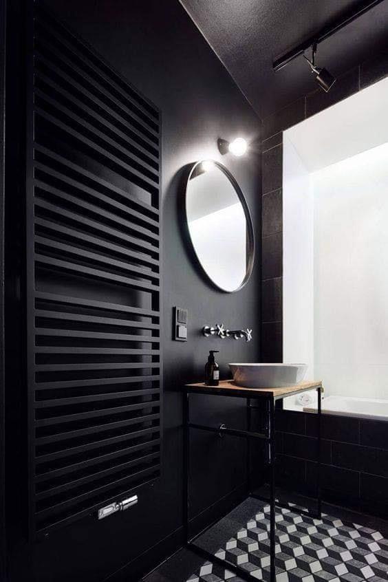black toilet