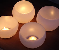 balloon candle holders