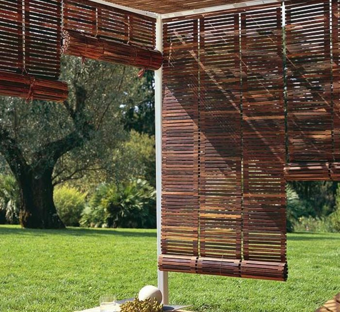 Caring For Outdoor Bamboo Roller Blinds