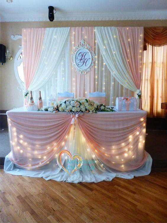 pink wedding decorations