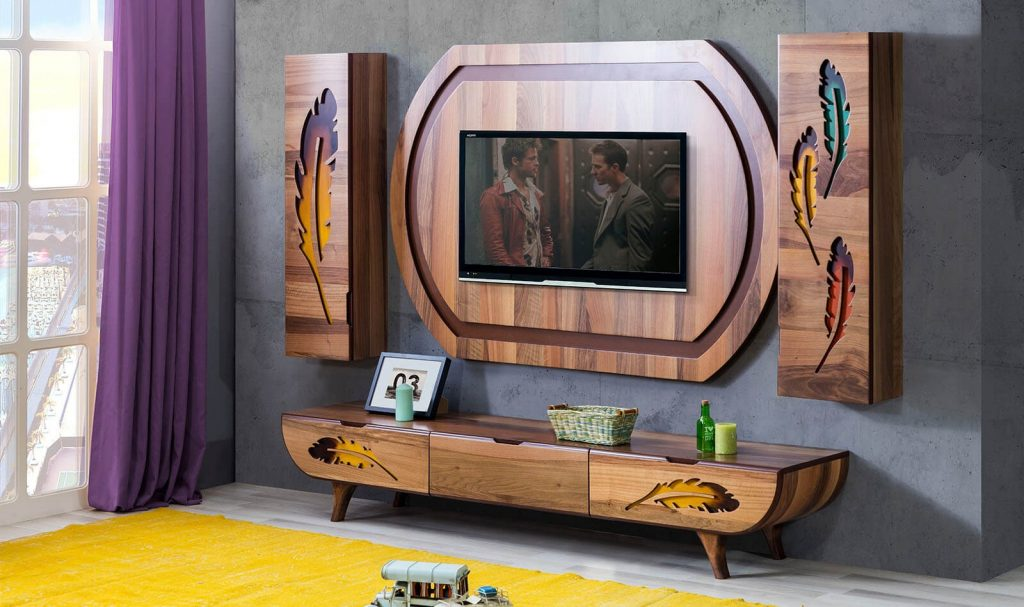 tv unit shelves