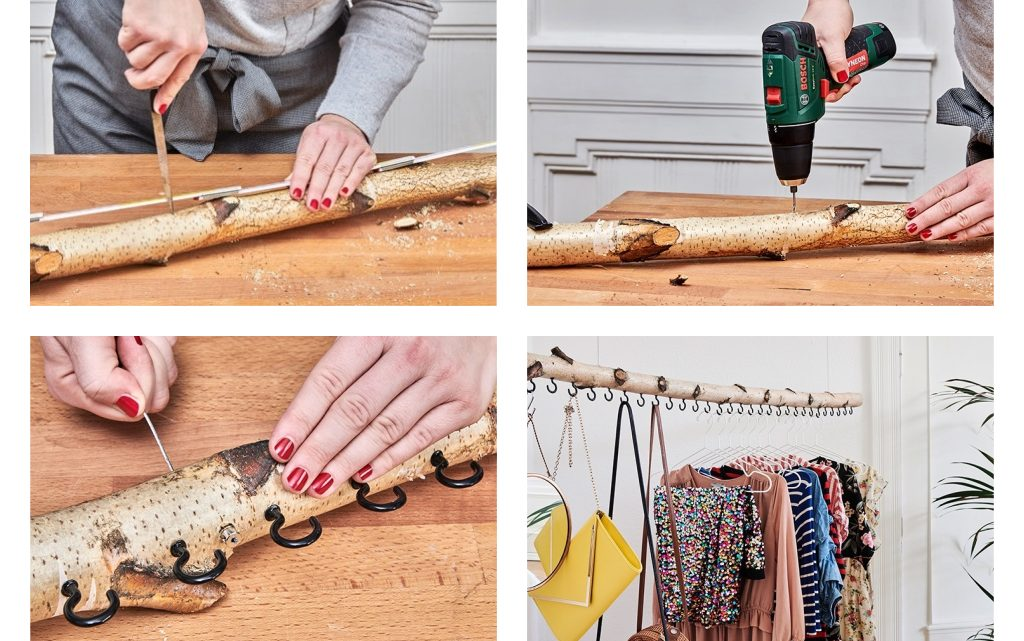 DIY Tree Branches Clothes Hanger