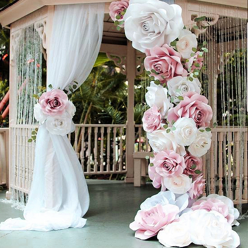 paper flowers - arch