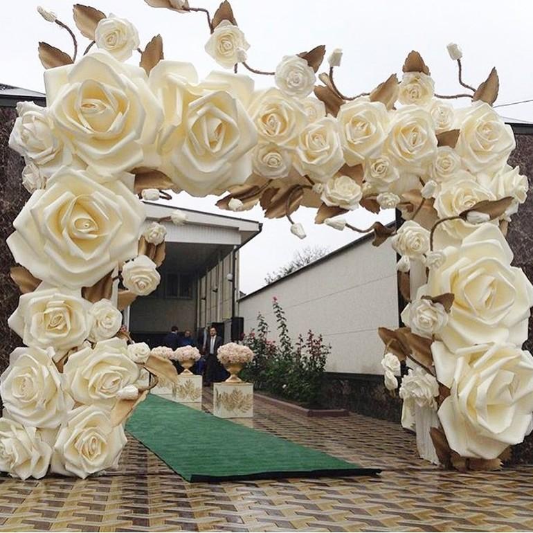 paper flowers wedding decor