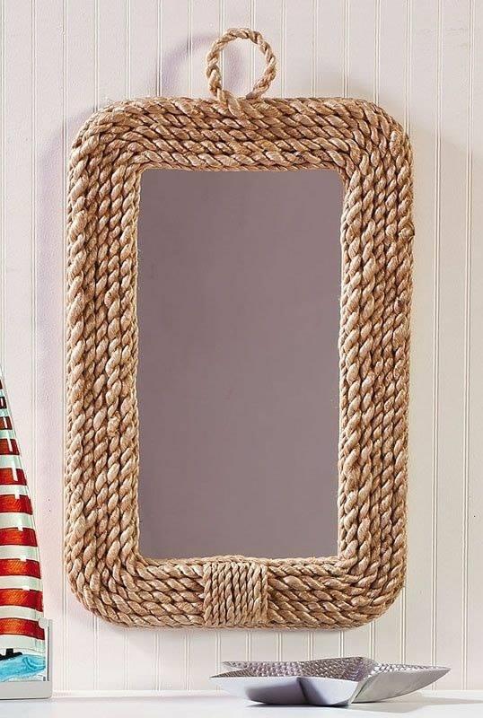 rope mirror frame