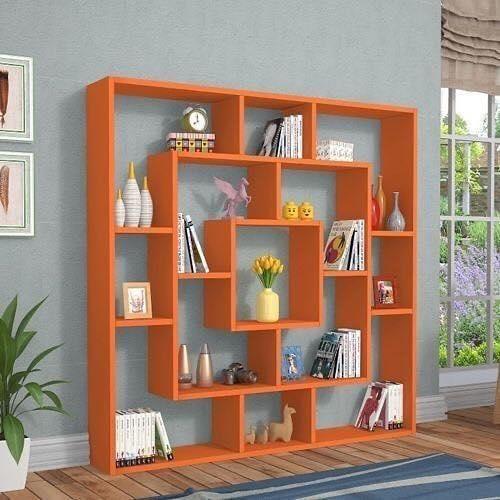 orange shelves