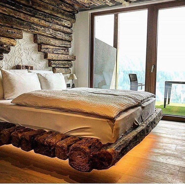 rustic wood bedroom