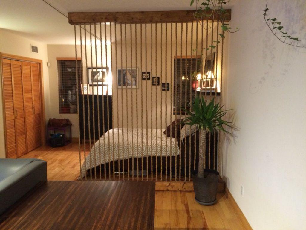 rope bedroom divider rope design