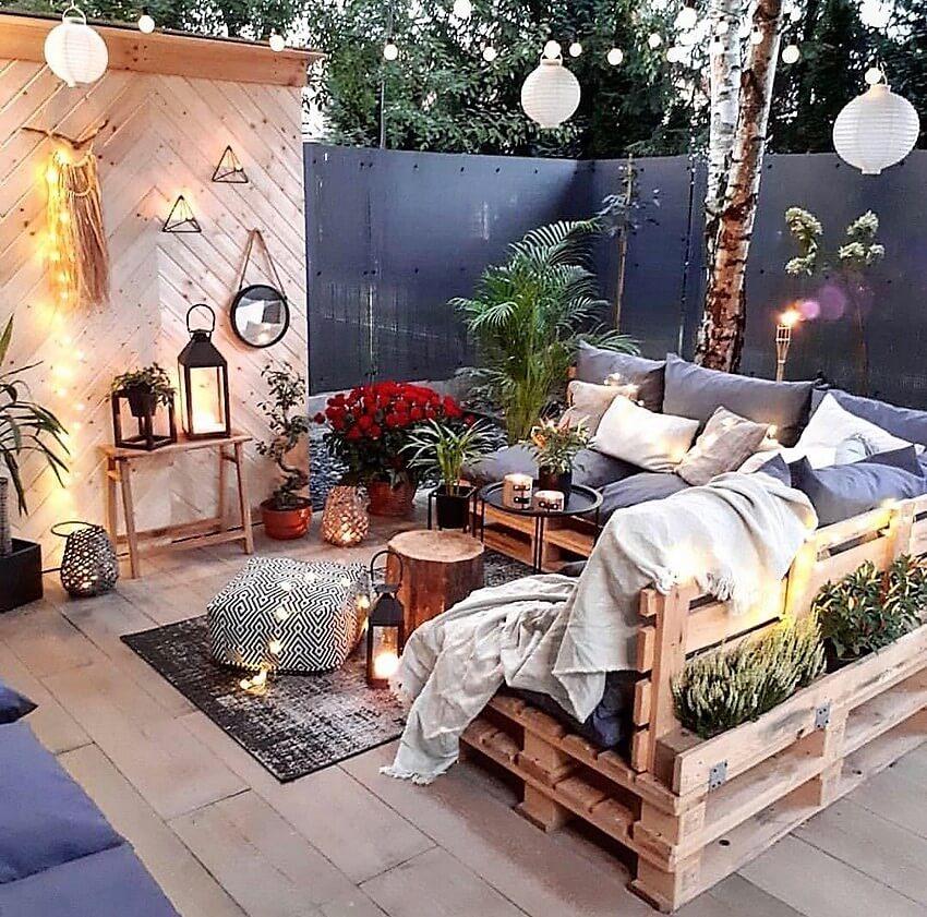 Bohemian styled garden
