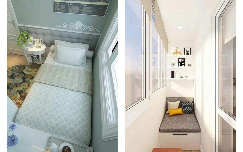 Fancy Small Balcony Transformations Into Bedroom