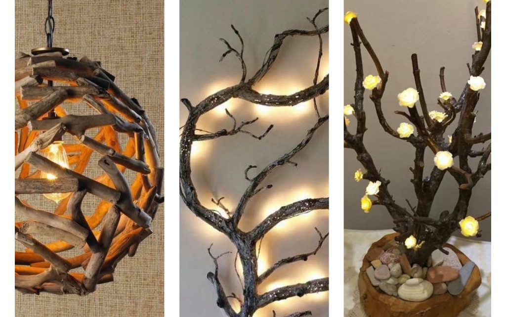 Magnificent Tree Branches Lighting in Home