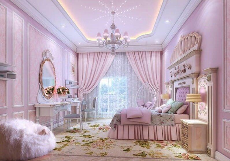 kid's rooms interior pink