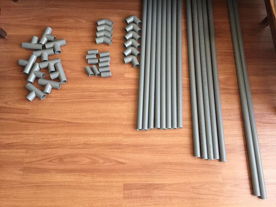 PVC pipes playhouse
