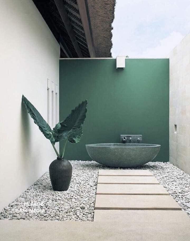 dark green interiors