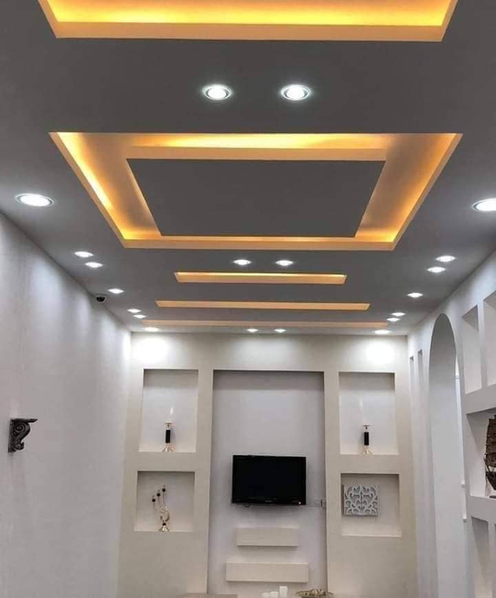gypsum board and LED
