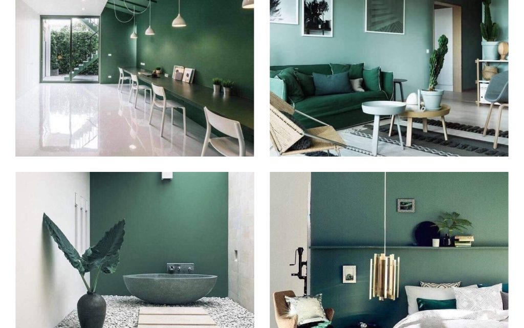 Dark Green Interiors – Ideas for You