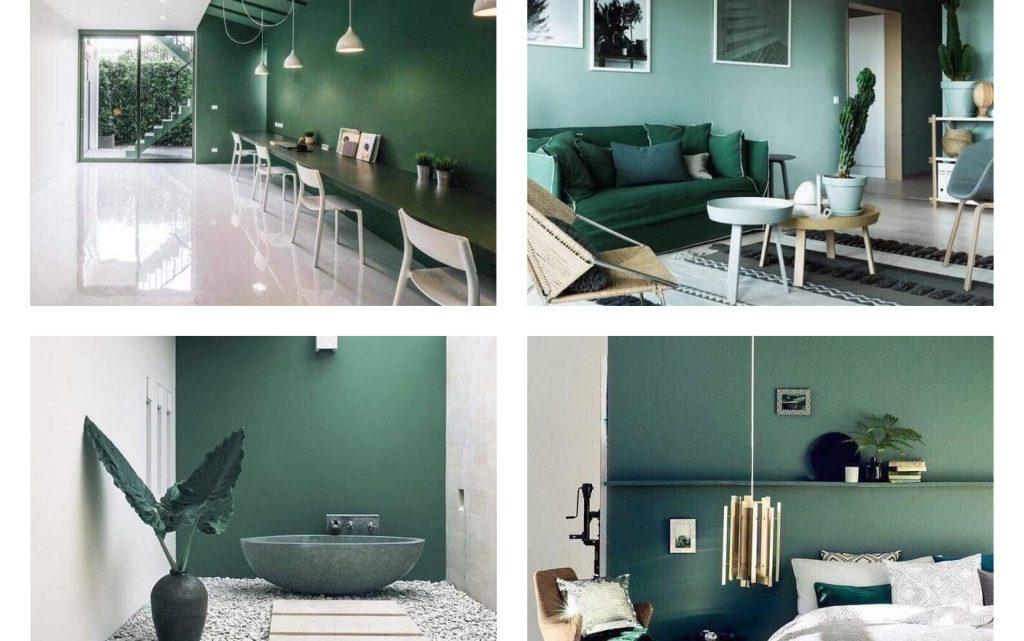 Dark Green Interiors – Ideas for You