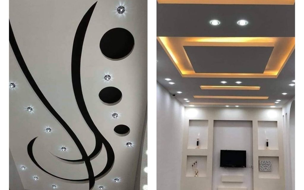 Gypsum Board and LED Lights in Combination