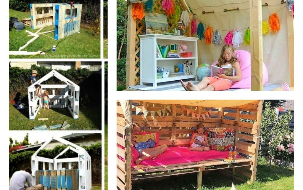 Make an Outdoor Pallet Library