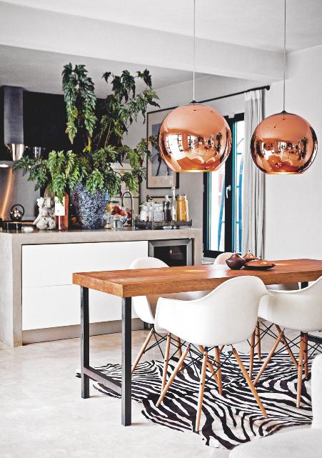 Decorating Interior With Copper Accent