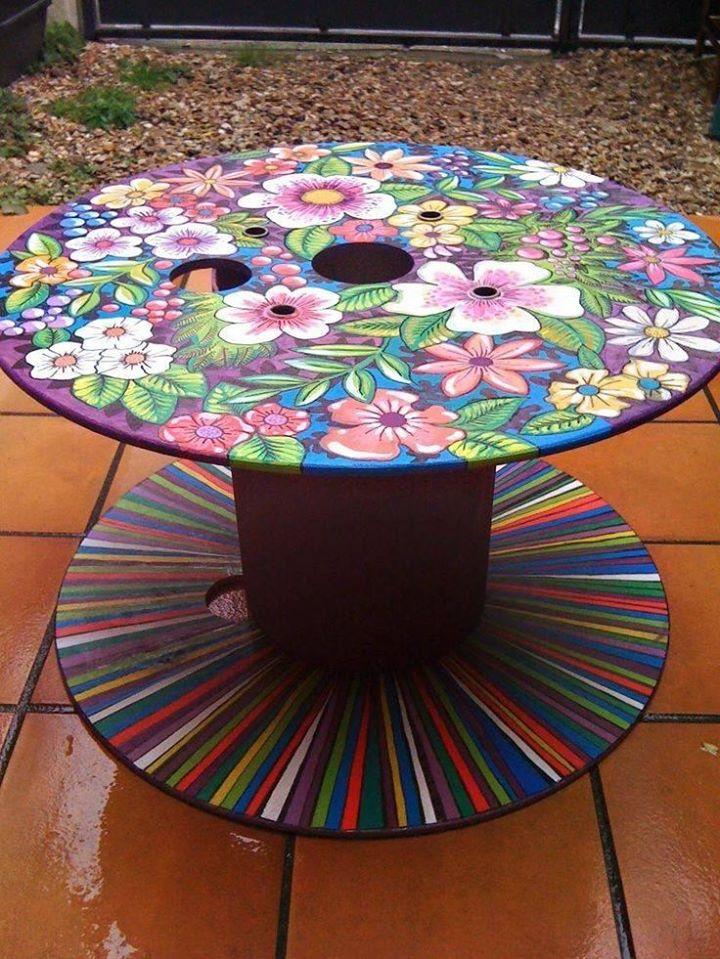 flowery table