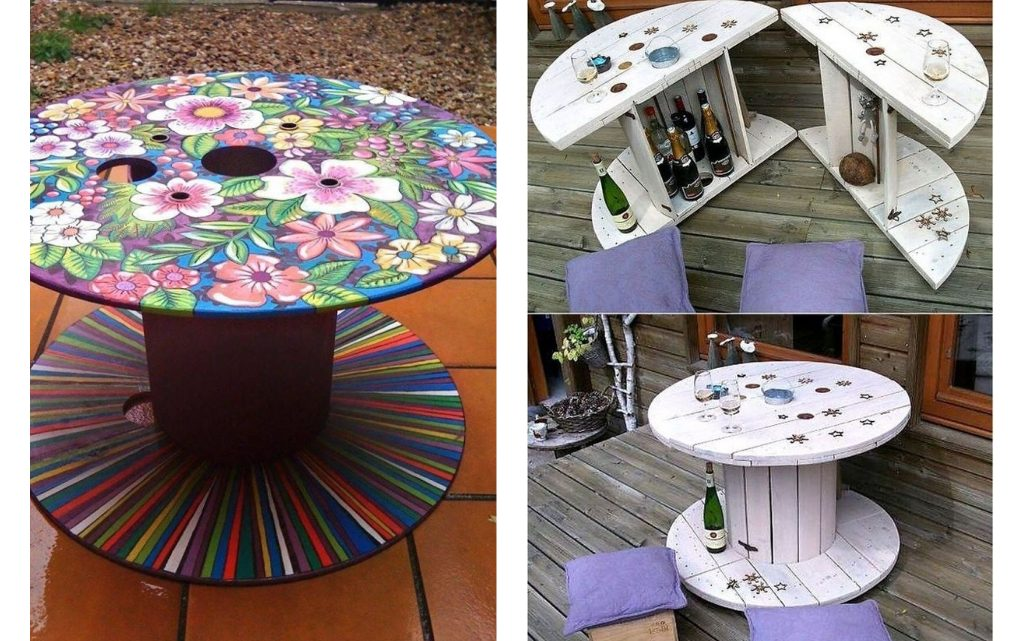 DIY Wooden Spool Table