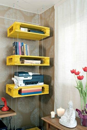 wooden crates shelving