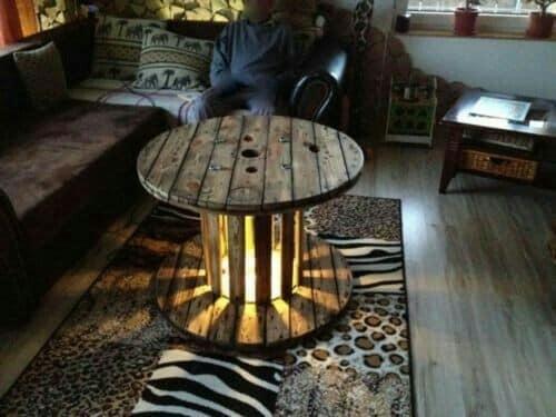 spool table lights