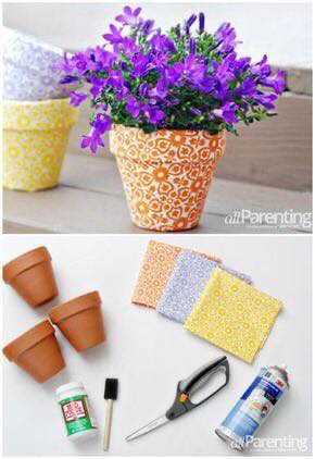 beautifying flower pots