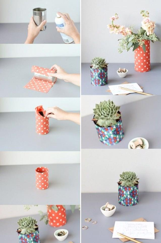 tin can decor