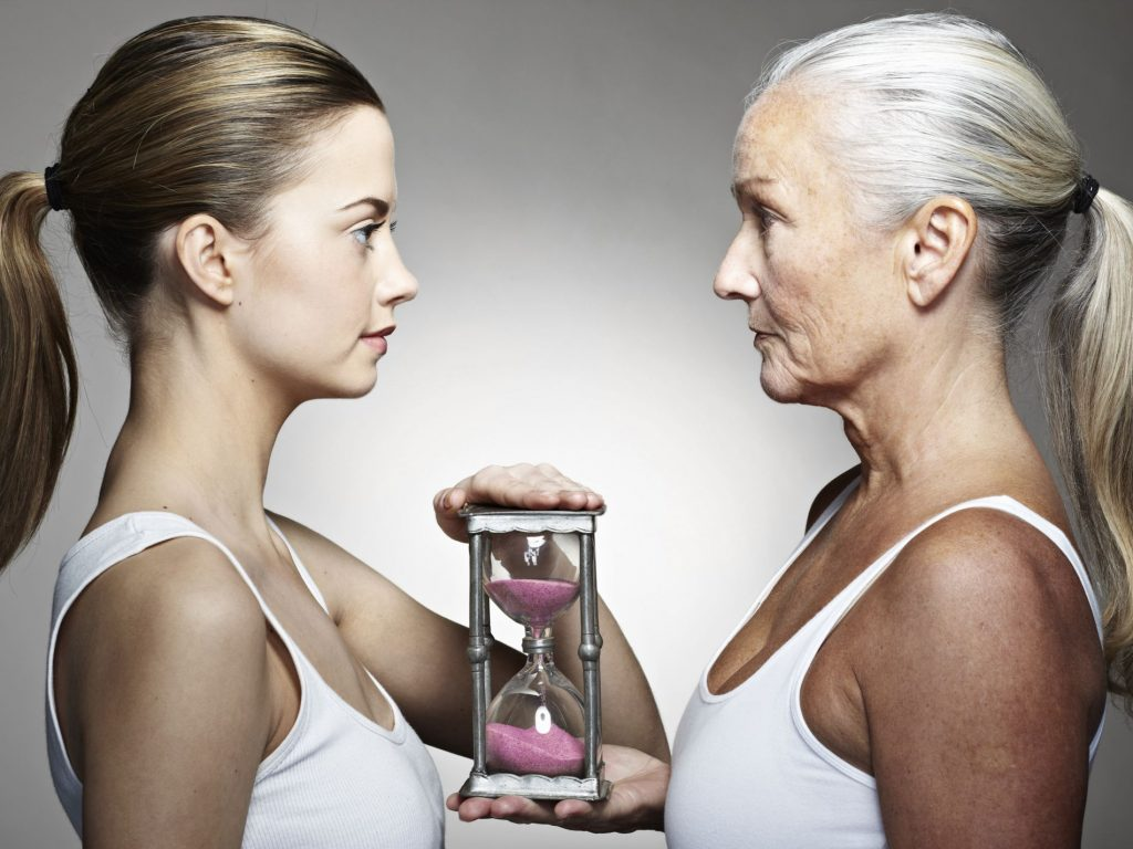 young woman vs old woman