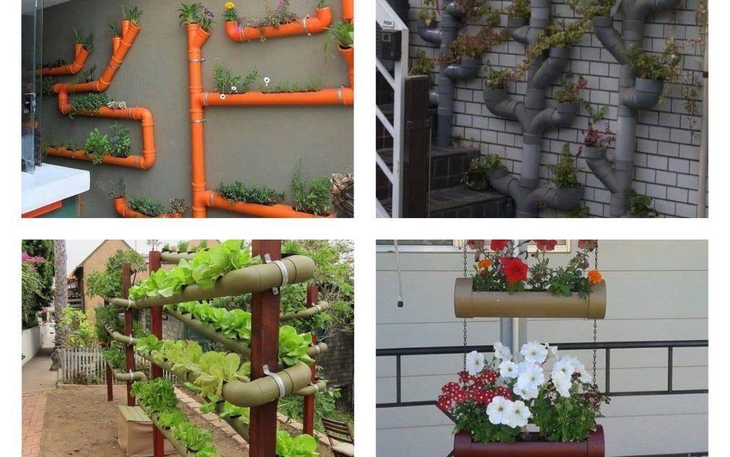 Fancy PVC Pipes Flower Pots