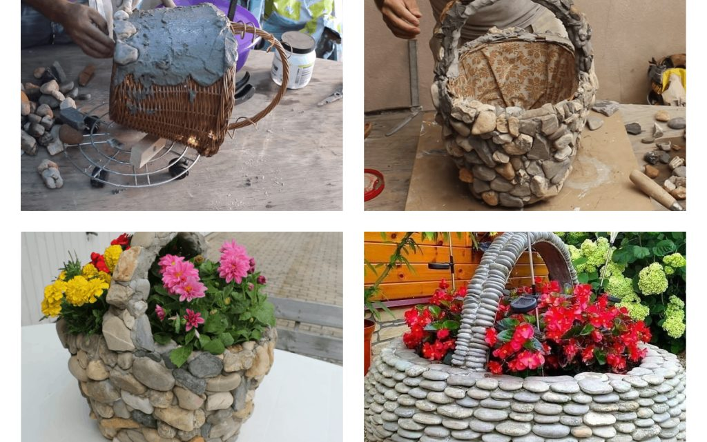 Magnificent and DIY Rocks Flower Pots