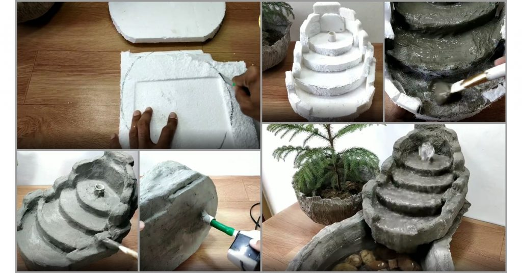 cement water fountain