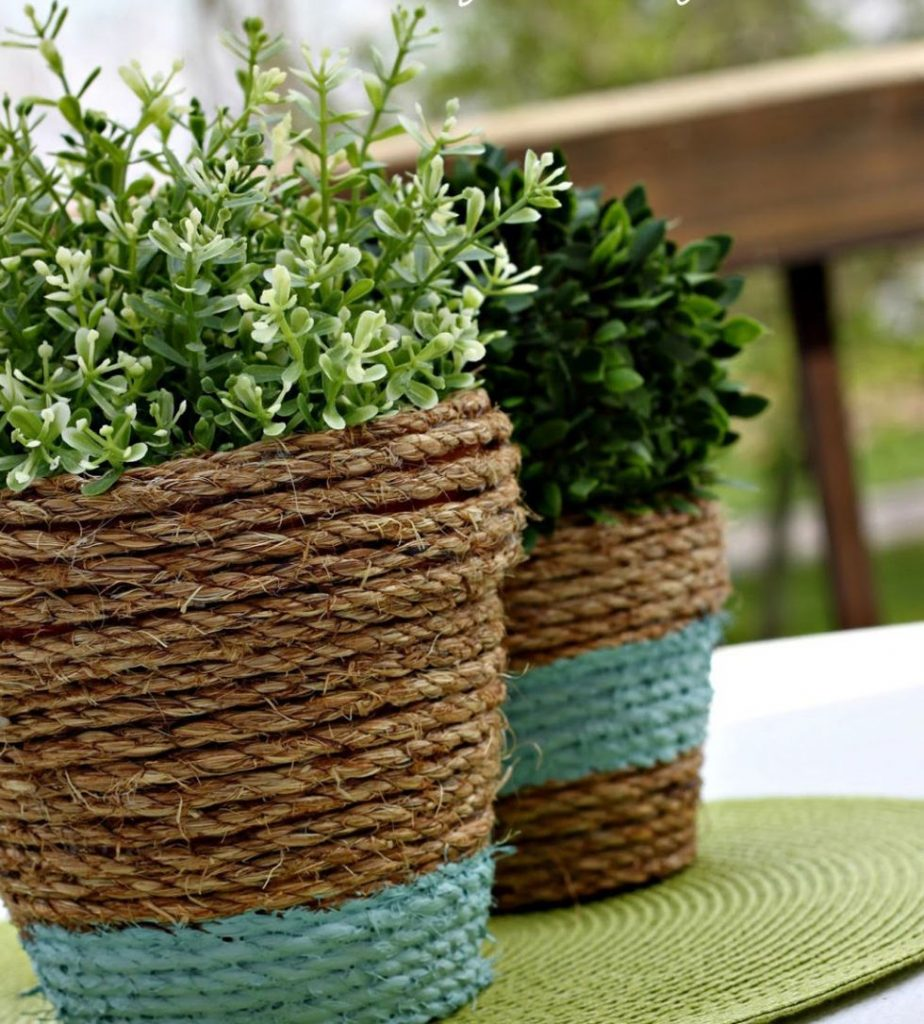 rope wrapped pots