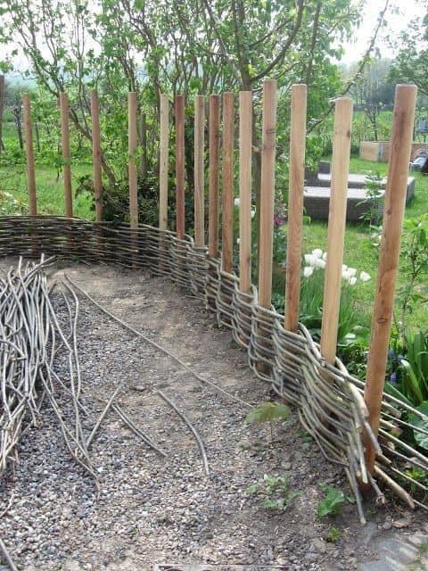 DIY woven fence